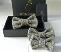 Brown Herringbone Tweed Dog Collar